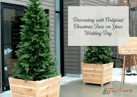 Decorating With Artificial Christmas Trees On Your Wedding Day