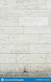 100 Travertine Facade As Background With Small Piece Of