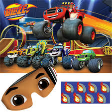 Blaze And The Monster Machines Party Game 10pc | Party City