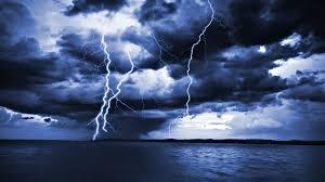 Lightning Storm At Sea Wallpaper