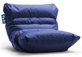 Blue Huge Bean Bag Bed