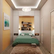 kleine schlafzimmer modern gestaltet schrank hinter bett