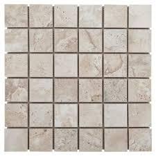 tarsus gray polished porcelain mosaic 12 x 12 100006931