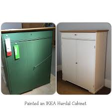 Painted an IKEA Hurdal cabinet white