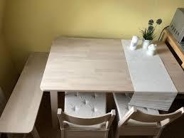 ikea tisch norråker mit stühlen und bank in 01307 dresden