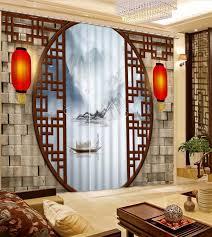 top 3d vorhänge für wohnzimmer schlafzimmer chinesischen holz tür vorhang design fenster vorhang neue stil foto vorhänge