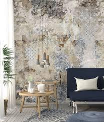 vlies foto tapete wandbild steinwand fliesen ornament bruchstein 200x300 cm