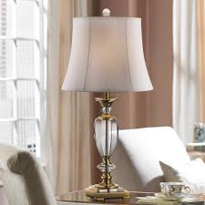 Square Crystal Lamp Finials by Vienna Full Spectrum Crystal And Brass Table Lamp Amazon Com