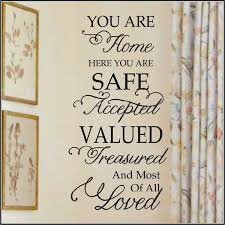 You Are Home Here Loved Wall Decal For Families