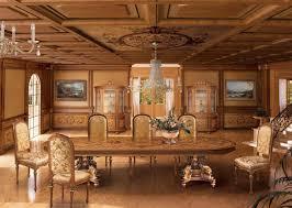 intarsien täfelung in klassischen luxus stil für esszimmer