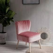 laxllent stuhl samt rosa sessel polsterstuhl 57x68x76cm mit holzfüß weich gepolstert stuhl für esszimmer wohnzimmer salon