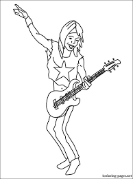 Coloring Page Guitarist