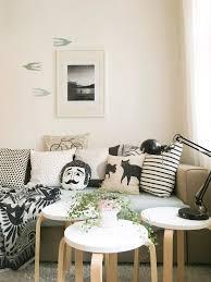 schwarz weiß sofa kissen ikea wohnzimmer hygge