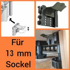 5 x sockel halterung 13 mm befestigung klammer clip leiste express küche