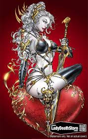 LADY DEATH ST VALENTINE 11x17 PRINT