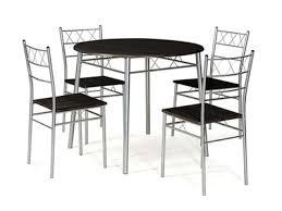 table ronde de cuisine table ronde 4 chaises lota wengue gris