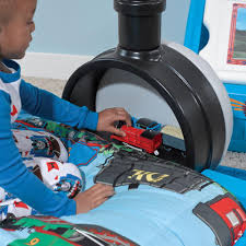 thomas the tank engine toddler bed blue digger