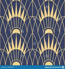 100 Art Deco Shape Vector Modern Geometric Tiles Pattern Golden Lined Abstract
