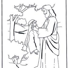 Jesus Heals The Blind Man Coloring Page AZ Pages