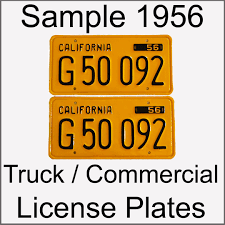 California YOM Info For 1956 1957 1958 1959 1960 1961 1962 ...
