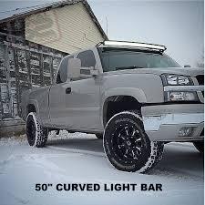 50 led light bar w roof mount brackets 1999 2006 silverado