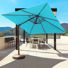 Large Cantilever Patio Umbrella by 897 10 X 10 U0027 Cantilever Galtech International Market Umbrellas And