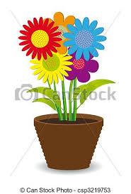 dessins de pot fleurs coloré clair pot clair fleurs