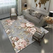 großhandel aovoll area teppich für wohnzimmer europäischen und amerikanischen pastoralen stil rosa grau teppich dekoration schlafzimmer teppich