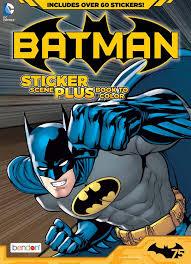 Batman Sticker Scene Plus Coloring Activity Book