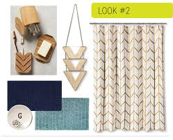Gold And White Chevron Curtains by Inspiring Navy And Gold Shower Curtain Images Best Idea Home