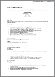 Truck Driver Resume Sample Canada Templates For Drivers