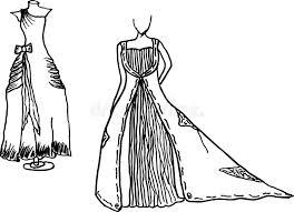 Download Wedding Dress Design Sketches Stock Vector