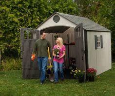 lifetime 8 feet x 12 5 feet storage shed 6402 by lifetime