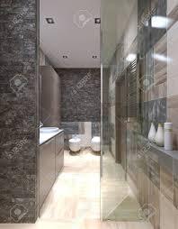 modernes badezimmer design mit hilfe kleinen fliesen an den wänden blick der dusche 3d übertragen