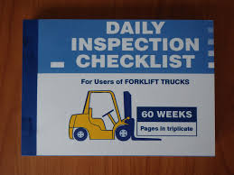 Daily Inspection Checklist Book For Forklift Operators - Eureka ... Sg Worlds Forklift Truck Inspection Checklist Youtube Vehicle Forms Free Inspirational 39 Pics Canvas Industrial Trucks Mobile App Poc Pod Form Personalised Duplicate Pads Car Rental Inspection Sheet Keniganamasco Service Crane Form Lovely Template Pre Wwwtopsimagescom Ed Bozarth Chevrolet Is A Denver Dealer And New Tools Apparel Tagged Forms Iti Bookstore Car Maintenance Spreadsheet 11 Unique Weekly Fire Walk Around