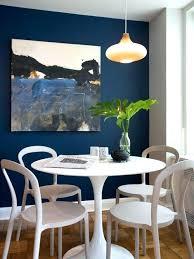 Dining Room Accent Wall Navy Contemporary Medium Tone Wood Floor