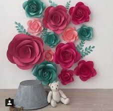 Set Of 13 Large Paper Flowers