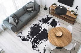 schwarz weißes kunstfell kaufen