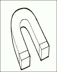 Magnet Coloring Pages 16 Printable Horse Shoe