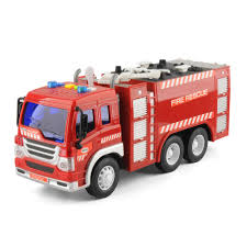 100 Fire Truck Power Wheels 2pcs Friction Toys Fighter Rescue Engine Ladder