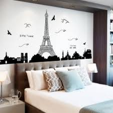 Home Decor Eiffel Tower PVC Removable Wall Stickers
