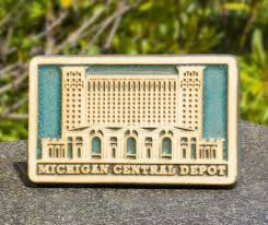 pewabic pottery michigan central depot tile in the queue