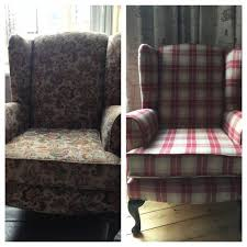 keeping it local upcycling my wing back chairs becci s