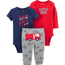100 Fire Truck Pajamas Carters Infant Boys 3 Pc Truck Set Baby Boy 024 Months