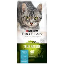 high protein cat food purina pro plan true nature trout rice recipe