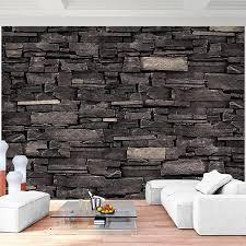 fototapeten steinwand 3d effekt grau 352 x 250 cm vlies wand