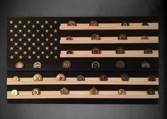 Challenge Coin Holder Tactical Thin Blue Line