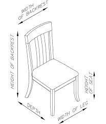 Mercer Park Brown Side Chair Dimensions