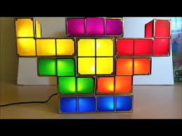 Tetris Stackable Led Desk Light by Tetris Retro Game Stack Able Led Desk Lamp Review Youtube