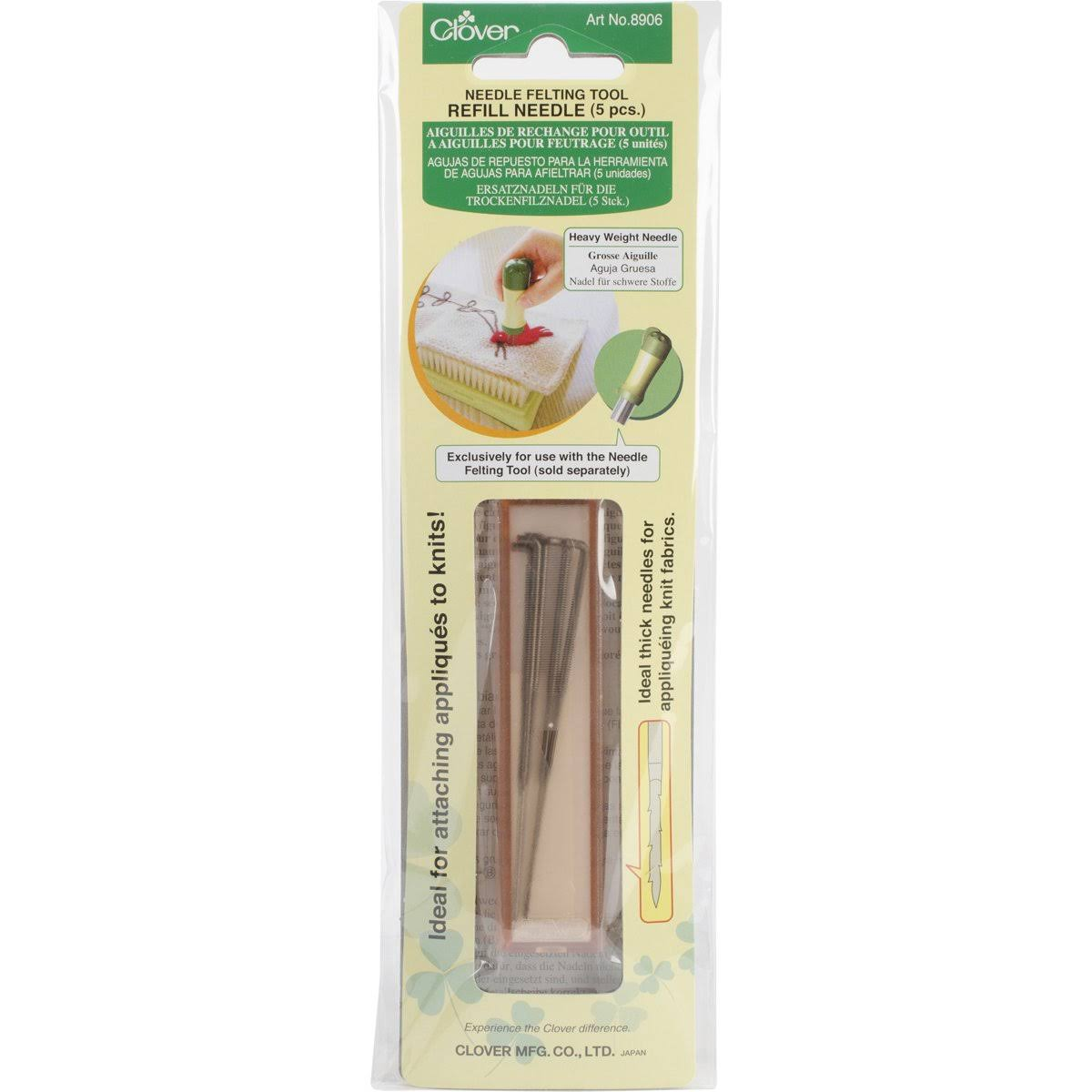 Clover Felting Needle Tool Refill - 5ct